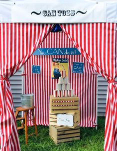 The CAN Toss booth at Kidsmart Carnivals - when you need a little motivation!