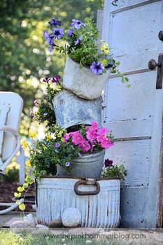 Love the use of the old buckets