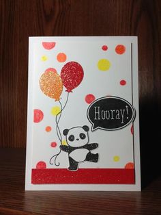 Mister Huey's Stencil w/colored pencils, Pandamonium (Mama Elephant),  by beesmom - Cards and Paper Crafts at Splitcoaststampers