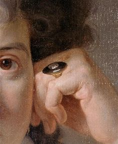 Perrin - Portrait de madame Nicaise Perrin (detail)