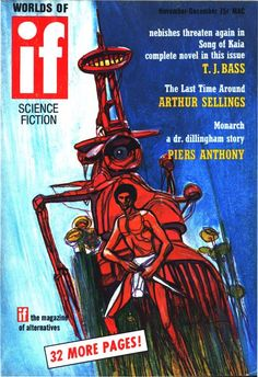 scificovers:  Ifvol 20 no 8 November-December 1970. Cover by Jack Gaughan illustratingSong of Kaia by T. J. Bass.