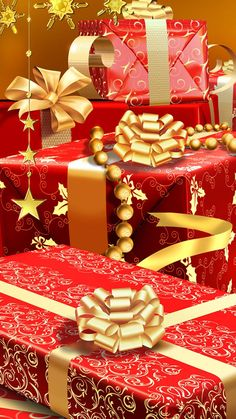 rich christmas gifts iphone 6 plus wallpaper Merry Christmas To All, Gold Christmas, Christmas Colors, Beautiful Christmas, All Things Christmas, Christmas Holidays, Christmas Gifts, Christmas Decorations, Winter Holiday