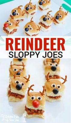 Reindeer Sloppy Joe Sliders #rudolph #christmas