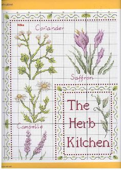 https://picasaweb.google.com/107956019071775817788/CrossStitchHerb  an album with herbs embroidery schemes
