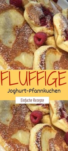 Fluffy yogurt pancakes- Fluffige Joghurt-Pfannkuchen Ingredients for the dough: 1 large cup of natural yoghurt 1 yoghurt cup of flour 1 pck. Best Pancake Recipe Fluffy, Pancake Recipe With Yogurt, Yogurt Pancakes, Fluffy Pancakes, Waffle Recipe No Milk, Easy Waffle Recipe, Pancake Healthy, Healthy Waffles, Breakfast Waffle Recipes