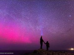 Magical shot of Northern Lights, Milky Way, Inishtrahull Island at Malin Head, Ireland. by Ronan McLaughlin
