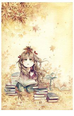 Autumn Reading by Claparo-Sans.deviantart.com on @deviantART