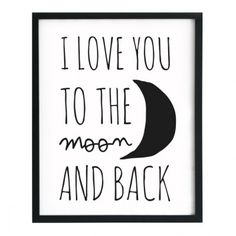 Affiche I love you to the moon and back - Twicy Store