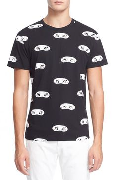 Maison Kitsune Fox Eye Print Cotton T-Shirt