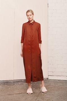 TEMERATE brown shirt dress  UNDRESS SS17 collection  www.iwearundress.com