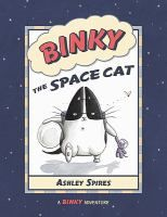 """Binky is a space cat - at least in his own mind. He's really a house cat who has never left the family """"space station."""" Unlike other house cats, Binky has a mission: to blast off into outer space (outside), explore unknown places (the backyard) and battle aliens (bugs). Binky must undergo rigorous training so he can repel the alien attacks that threaten his humans. As he builds his spaceship, he must be extremely careful with his blueprints - the enemy is always watching."""