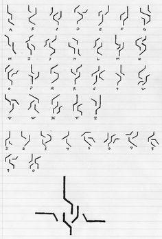 Dragobeastian Alphabet by ProjectWarSword on DeviantArt Alphabet Code, Alphabet Symbols, Sign Language Alphabet, Glyphs Symbols, Alphabet Stamps, Ancient Alphabets, Ancient Symbols, Writing Tips, Writing Prompts