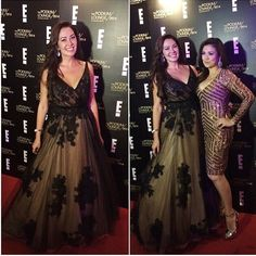 Ruffa Guiterrez in Renee L. Collections hand embroidered gown in black tulle and skin underlining