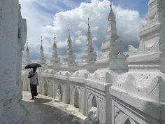 Pagode Hsinbyume à Mingun, Birmanie