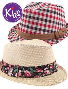 Fedorable kids hats.