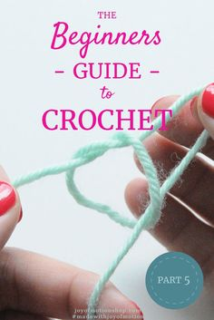 The Beginners Guide to Crochet - Part Learn to crochet with Joy of Motion. In the end you'll be able to crochet a sweater. Crochet guide for beginners. Crochet stitch for beginners. Crochet tutorial for beginners. Crochet Stitches For Beginners, Beginner Crochet Tutorial, Beginner Crochet Projects, Crochet Instructions, Crochet Stitches Patterns, Crochet Videos, Crochet Basics, Sewing For Beginners, Crochet Tutorials
