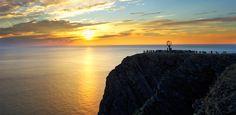 El sol de medianoche en Cabo Norte - Noruega