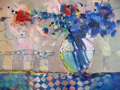 Robert Burridge Studio • ArtsyFartsy News March 2007 Art Painting, Floral Painting, Flower Art Painting, Flower Wall Art, Floral Art, Abstract Painting, Art, Abstract, Abstract Expressionism Painting