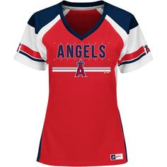 Los Angeles Angels of Anaheim Women s Glowing Play Fashion Top by Majestic  Athletic - MLB. 8bba9dc4be2