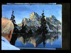 Watch Bill Alexander as he creates a beautiful mountain scene using a palette knife part 2.