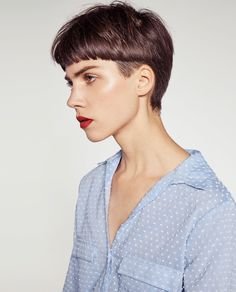 CONTRASTING PLUMETIS SHIRT-View all-TOPS-WOMAN-COLLECTION AW16 | ZARA United States