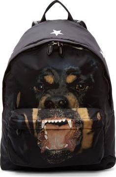 Givenchy Black Rottweiler Backpack