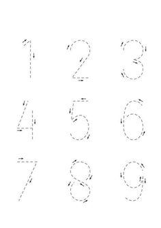 Printable Preschool Worksheets, Number Worksheets, Kindergarten Math Worksheets, Tracing Worksheets, Preschool Kindergarten, Printable Coloring, Preschool Learning Activities, Preschool Curriculum, Preschool Lessons