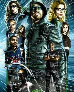from - Really dig this art from - Thea Queen, Stephen Amell Arrow, Arrow Oliver, The Flash, Arrow Tv Series, Univers Dc, Cw Dc, Superhero Memes, Team Arrow