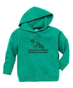 Take a look at this Kelly Green 'Sit Back' Hoodie - Toddler & Kids by Rainbow Swirlz on #zulily today!