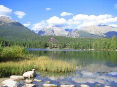 my photo of Štrbské pleso - mountain lake in High Tatras, Slovakia High Tatras, My Photos, Spaces, Mountains, Nature, Travel, Voyage, Viajes, Traveling