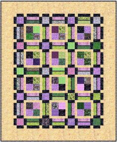 The Piccadilly Quilt pattern $8.99 www.amongbrendasquilts.com    Use Bali Pops and   Bali Snaps to make this beginner friendly quilt in multiple sizes including Baby, Lap, Full, Queen and King.  Go to the You Tube video Piccadilly Piecing to see how it's made.