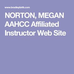 NORTON, MEGAN AAHCC Affiliated Instructor Web Site