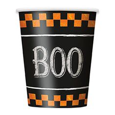 Halloween Tern Kop – Single. BOO!!! Halloween Tern er et fint engangs-service tema til Halloween borddækningen! Fundet hos MinTemaFest.dk