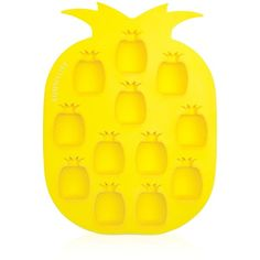 Sunnylife Pineapple Ice Tray, Set of 2 ($17) ❤ liked on Polyvore featuring home, kitchen & dining, kitchen gadgets & tools, decor, filler, home decor, pineapple, yellow, silicon ice cube tray and silicon ice tray