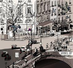 Fotolia_view over Saint Michel bridge in Paris