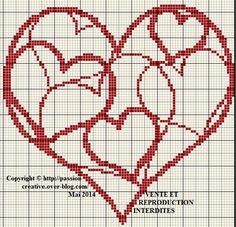 Ravelry: Medieval Heart Chart pattern by Crystal Guistinello Cross Stitch Needles, Cross Stitch Heart, Embroidery Hearts, Cross Stitch Embroidery, Cross Stitch Designs, Cross Stitch Patterns, Knitting Charts, Crochet Chart, Heart Patterns