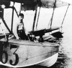 Russian flying boat Grigorovich M-9 c 37 mm gun Hotchkiss WWI