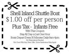Shell Island Coupons