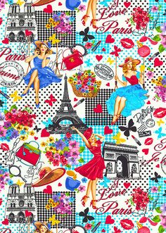 Ooh La La - Vintage Paris - White