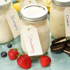 You don't need an ice cream maker to make your own cool, sweet treat! Just grab a mason jar, your favorite fillings and fixings, and shake up an easy dessert!