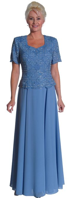 Short sleeved mother of the bride or groom dress