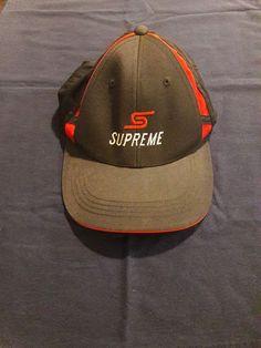 Sport Tek Imitation Supreme Adjustable Strapback Black Baseball Cap   fashion  clothing  shoes   d6283bb7490c