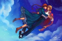 Howl and Sophie - Dancing on Clouds by Qinni.deviantart.com on @deviantART