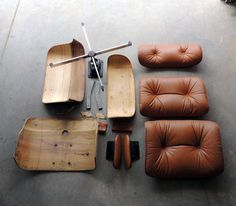 "continuarte:  ""Lounge Chair"" Charles Eames, 1956                                                                                                                                                     Más"