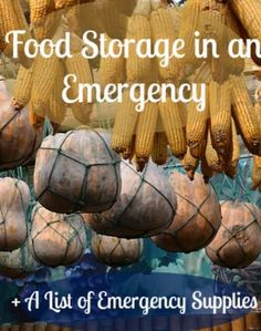 Food is high on a doomsday preppers list of supplies!