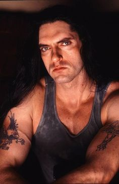 "dreams-in-mist: ""A Pete-Post-A-Day thru Halloween.Peter Steele (Jan 1962 - Apr Type O Negative "" Peter Steele, Type O Negative Band, Arm Veins, Negative Tattoo, Doom Metal Bands, Gothic Men, Looks Black, Green Man, Heavy Metal"