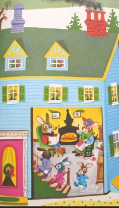 Richard Scarry Christmas house