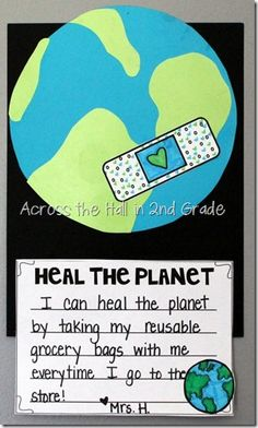 such a cute way to celebrate Earth Day, comes with a cute interactive reader and center