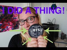 BTS [방탄소년단] 3D Printed Badge - Lets make Kpop Stuff!!!! - YouTube