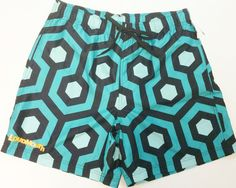 LOUDMOUTH APPAREL Swim trunks Mens Size Large Swim Shorts Palm Beach Geo Design #LOUDMOUTHAPPAREL #Trunks